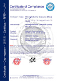 CE CERTIFICATION FOR SHEAR MACHINE
