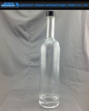 750ml Clear Glass Wine Bottle with Cork or Cap