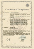SINOWON CE Certificate of Profile Projector