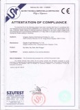CE certificate for round hay baler