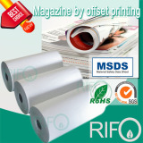 Double side coating pp synthetic paper for magazine offset print