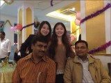 Celebrating Indian Diwali Festival with clients