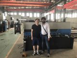 India customer visit our factory to purchase shearing machine and bending machine