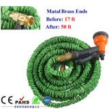 magic garden hose with brass connector