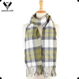 Women Cheap Soft Plaid Knit Scarf Long Scarf