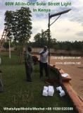 60w all in one led solar street light installed in Kenya