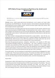 November 20, 2013 AIPU Safes Group Introduces High Security Jewelry and Watch Safe