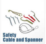 SAFETY CABLE AND SPANNER