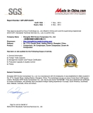 SGS certificate for our screw type air compressors