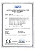 CERTIFICATE of LVD COMPLIANCE