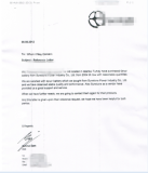 Reference Letter from our distributor in Istanbul Turkey