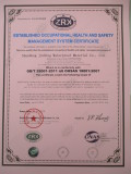 Established Occupational Health And Safety Managment System Certificate