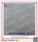 microfiber lens cleaning cloth with full-size embossing