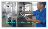our worker did clean on rotary tablet press after machine chlorine test