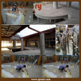 The Client in Zimbabwe Sent Us The Paper Mold of His Curving Terrace and Staircase From Africa