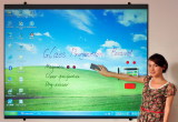 Dry erase magnetic glass projection board