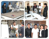 Customer Interested in our Three Workstage CNC Router.