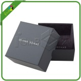 Black rigid cardboard packaging box