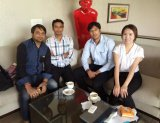 our company visiting customer meeting in New Delhi