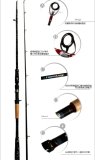H action extra light lure rod black fish rod snake fish rod