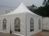 4x4m pagoda tent with clear pvc windows