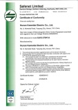 CE certificate of Electric Control Cabinet for EMS
