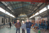 Welcome oversea customer to visit our amorphous ribbon production machine