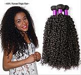 Luxury Brazilian Human Hair Extension 100% Virgin Hair Unprocessed Hair, Kinky curl