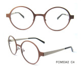 Retro traditional stainless steel optical frame