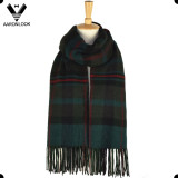 2017 Fashion New Unisex Acrylic Cashmere Brushed Stripe Plaid Scarf with Fringes
