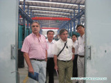 On the second day after the 104th Canton Fair, Unistamp form Brazil come for detailed palaver