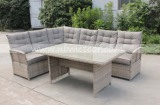 Garden outdoor corner sofa dining set wicker furniture