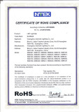 RoHS Certificate For Led Light Bar