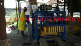 QT40-2 manual concrete hollow block machine in Uganda