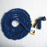 Expandable garden hose with Heavy duty brass connectors