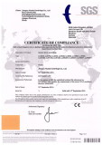 CE Certificate for LLW worm/screen Centrifuge