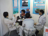 Meet with COSCO customer at Maritime Expo booth