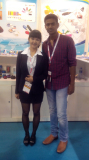 Minna with Indian customer