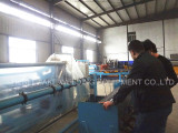 Turkey customer visited our factory to see the chain link fence machine.