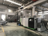 ASE120 Single Screw Extruder recycling pelletizing machine Running Test at our factory for flakes