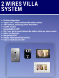 One button operation video door phone in 2 wires villa system