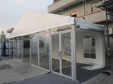 10m clear span tent with glass wall and glass door in Nigeria
