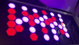 LED 3D Honeycomb ball used on wall