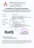 RoHS certificate for the ozone sterilizer