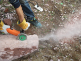 Angle Grinder Testing on the Stone