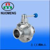 Sanitary Stainless Steel Manual Clamped Butterfly Type Ball Valve