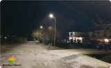 Integrated Solar Garden Light in Belgium-Night Effect