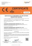 CE certificate for EN 15048