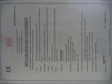 CE Certificate of Vertical Axis Wind Turbine