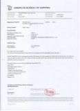 ABS certificate (American Bureau of Shipping)